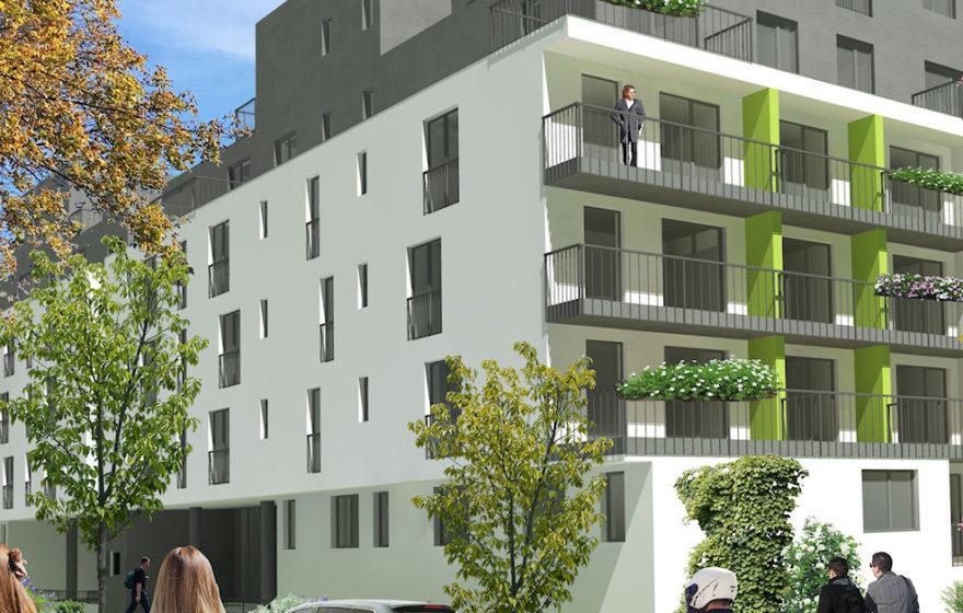 Byty s terasou nebo s balkónem v Prostějově, Rezidence Fanderlíkova
