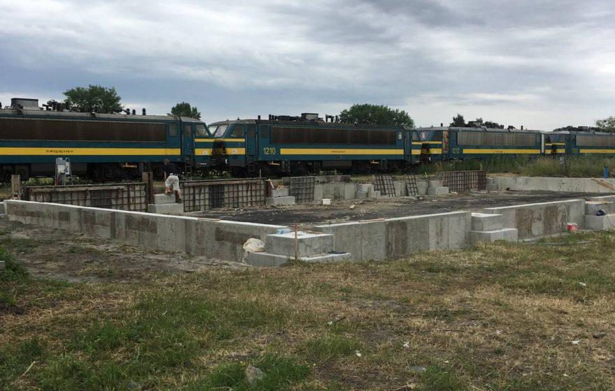 Realizace monolitických konstrukcí skladovací haly,  Brodek u Přerova